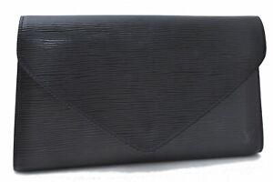 Authentic Louis Vuitton Epi Arts Deco Clutch Bag Black M52632 LV C2711