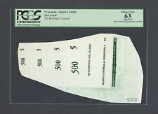 Venezuela - Banco Central 500 Bolivares Undated Vignette Proof  Uncirculated