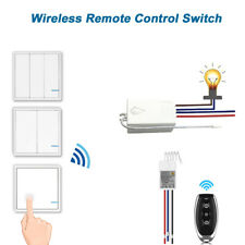 Smart Wireless Light Switch and Receiver Kit 1 2 3 Ways ON/OFF Remote Control