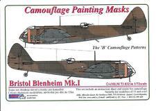 "AML Models 1/72 CAMOUFLAGE PAINT MASKS BRISTOL BLENHEIM Mk.I ""B"" Patterns"""