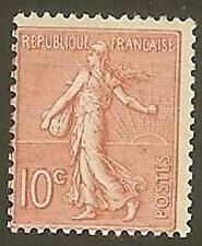 "FRANCE STAMP TIMBRE N° 129 "" SEMEUSE LIGNEE 10c ROSE "" NEUF xx TTB"