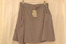 NWT Ranna Gill Anthropologie White/Black Polyester Skirt Size L $ 128