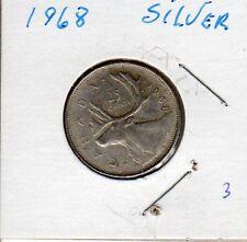 1968 Canadian silver quarters x 2