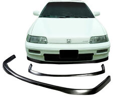 88-91 JDM Style Poly-Urethane Front Bumper Lip Spoiler For Honda CRX Coupe 2Dr