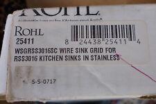 Rohl, Sink Grid,White (WSGR3016SC) Fits RSS3016 Sainless kitchen sink