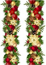 A4 Edible Decor Icing Sheet Christmas Garland Ribbon Border for larger cakes