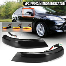 For Ford Focus Mondeo MK MK2  MK3 4 LED LightS Side Mirror Turn Signal Indicator