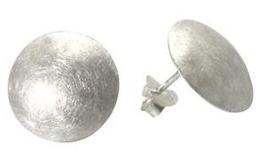 Scheiben Ohrstecker gewölbt 16 mm (Sterlingsilber 925) Silberohrstecker