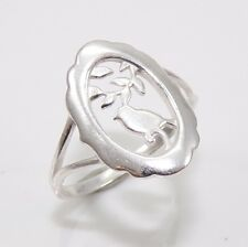 New Sterling Silver Bird Dove Branch Leaf Oval Ring Size 7 FZ