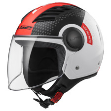 Ls2 Casque Moto Open Of562 Airflow L Condor Blanc-noir-rouge S