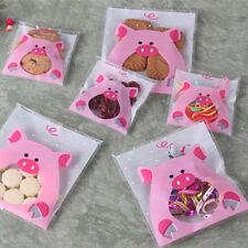 Self Adhesive Plastic Cellophane Cookies Candy Party Gifts Wrapping Bags SK
