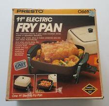 """1982 Presto 11"""" Electric Fry Pan #06610 NIB Vintage Small Kitchen Appliance"""