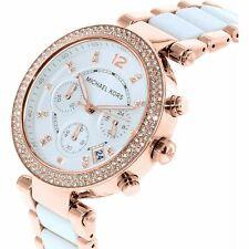 Genuine Michael Kors MK5774 Parker White Dial Rose Gold 39mm Ladies Watch
