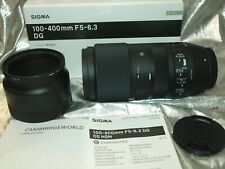 SIGMA 100-400mm F5.0 COMTE DG OS HSM ZOOM LENS f CANON NEW in FACTORY BOX & HOOD