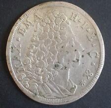 30 Kreuzer 1/2 Gulden 1718 Bayern Maximilian II. Emanuel Silber Münze vzgl.