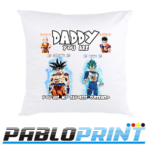 Fathers Day Gift Pillow Case Dragon Ball Daddy Dad Birthday Present