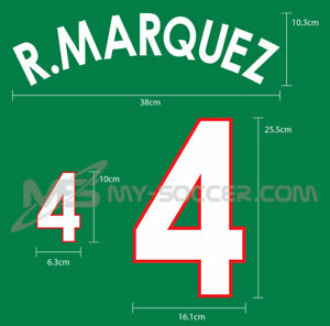 MEXICO Home World Cup 2002 REPRODUCTION PU Name Number