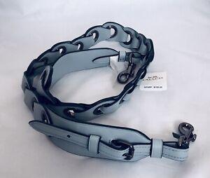 COACH 87292 Linked Leather Novelty Strap Guitar Shoulder DK/Pale Blue NWT