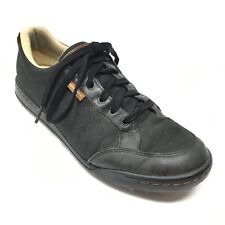 Men's Ashworth Cardiff Golf Shoes Sneakers Size 10.5 M Black Leather Canvas AD15