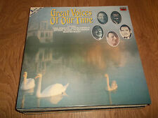 GREAT VOICES OF OUR TIME ~ 2 X VINYL LP EMI EX/EX ROBESON TAUBER DAWSON BOOTH