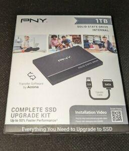 """✅ PNY CS900 1TB 2.5"""" Internal SSD w SATA to USB Upgrade Kit (SSD7CS900-1TB-RB)"""