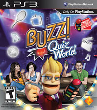 Buzz! Quiz World PS3 New Playstation 3
