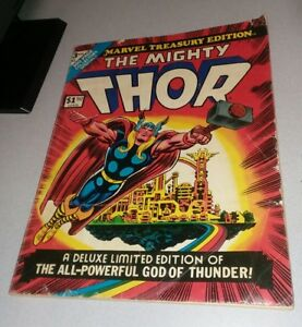 MARVEL TREASURY EDITION #3 THOR 1974 stan lee jack kirby hela loki bronze age