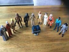 Vintage Kenner Guerra De Las Galaxias Figuras De Acción X 12 Trabajo Lote paquete últimos 17 & 12