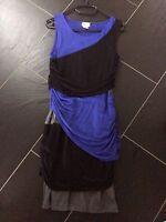 Kleid, Shirtkleid, Kurz, Blau/ Schwarz, Größe 36/ 38, Neu