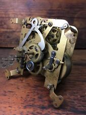STUNNING ANTIQUE HAMBURG AMERICAN CLOCK CO. W63 BRASS CLOCK MOVEMENT