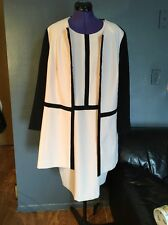 Vex Collection Womens Black/WHITE  Mid Length Dress & Jacket Sz 48 $195 NWT