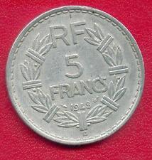 RARE MONNAIE 5 FRANCS LAVRILLIER ALUMINIUM 1948 B @ BEAUMONT LE ROGER @ RARE !!
