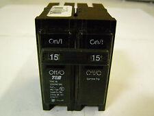 T&B Tb215 Type Tb Hacr 2 Pole Circuit Breaker Sr-101 15 Amp Common Trip
