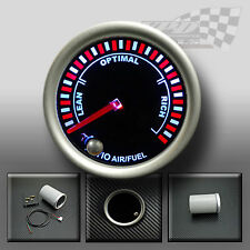 "FUEL AIR GAUGE 52mm 2"" SMOKED FACE 7 COLOUR DASH DISPLAY GAUGE MOUNT POD"