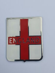 VESPA England St George Cross Stainless Legshield  Adhesive Badge Limited