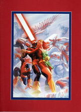 X-MEN THEN & NOW COLLAGE PRINT PROFESSIONALLY MATTED Alex Ross Cyclops Phoenix