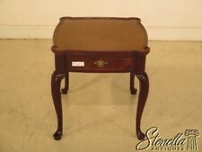 43088E:  Walnut 1 Drawer Queen Anne Occasional Table