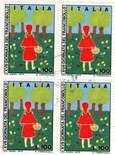 Italia 1975 Quartina Giornata del francobollo Cappuccetto rosso, usato