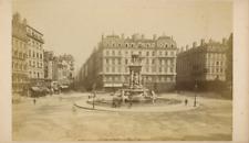 France Lyon Place des Jacobins  Vintage albumen print, Tirage albuminé  20X1