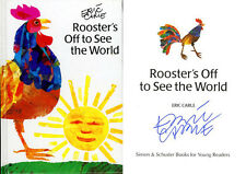 Eric Carle SIGNED AUTOGRAPHED Rooster's Off To See The World HC Very Busy Spider
