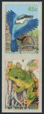 Australia 1793-1794a pair,MNH. Fauna 1999.Sacred kingfisher,Tree frog