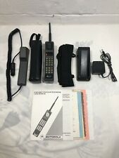Vtg Sprint Motorola Ultra Classic Brick Cell Phone w/ Accessories Battery Tested