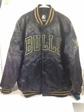 Starter black label bulls jacket satin SIZE 2XL CBG LA630089