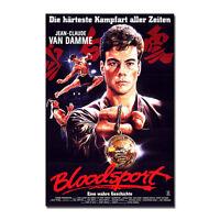 BLOODSPORT Movie Art Silk Poster Jean-Claude Van Damme 13x20 32x48inch J739