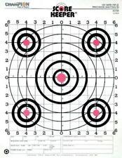 Champion Range and Target Score Keeper Fluorescent Orange Bull 100-yard Sight-in
