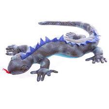 SANDTIER SALAMANDER groß, 38 cm lang Stofftier Blau - Grau Silber Pkt. Deko NEU