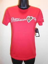 NEW-MENDED Ottawa Senators Girls Youth Size M Medium 10/12 Red Heart Shirt
