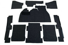 1973-1977 VW Super Beetle Sedan Basic Carpet Kit 9pcs, (w/Footrest) Black