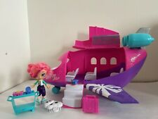 Shopkins World Vacation Plane Jet with Skyanna doll & Exclusive Figures