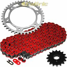 Red O-Ring Drive Chain & Sprockets Kit Fits HONDA CBR600RR CBR600RA ABS 2007-16